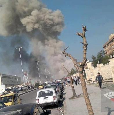 Shelling in Aleppo
