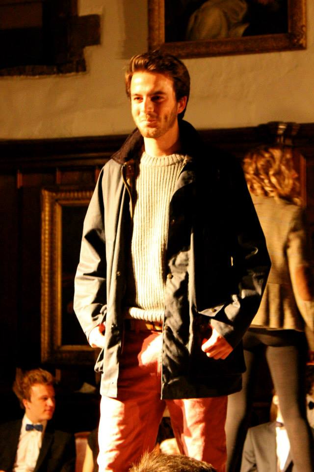 Director Dom Humphrey's was selected to model in his First Year