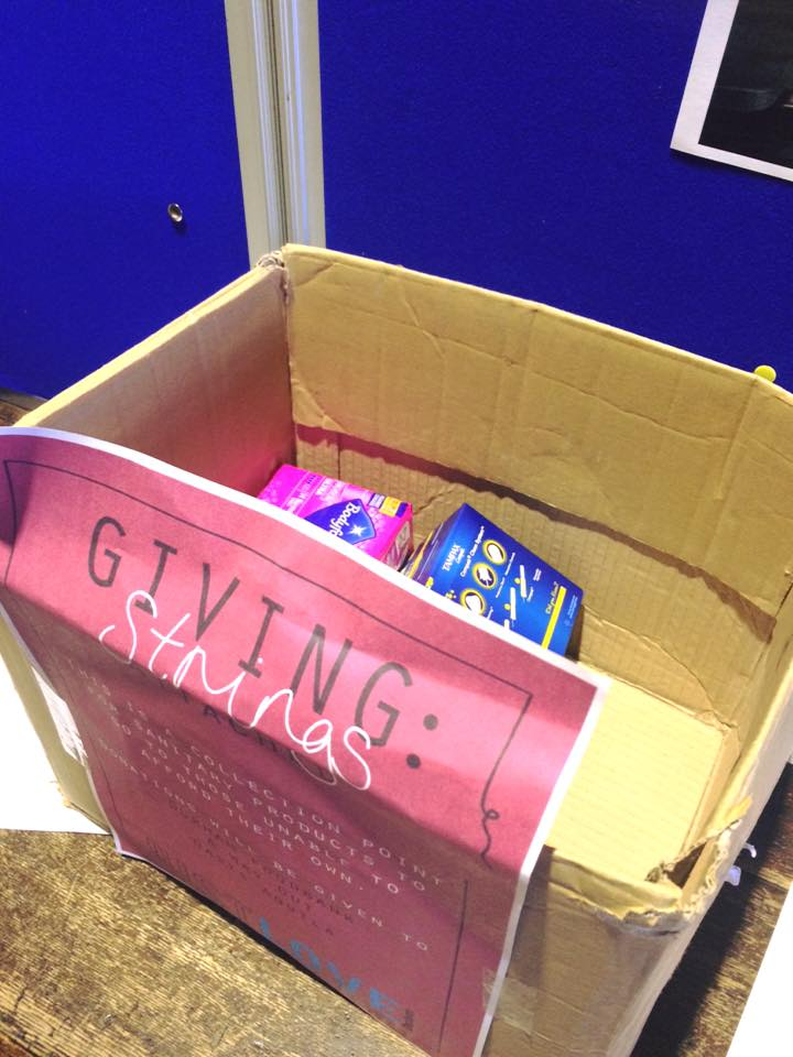 There are donation boxes in your colleges