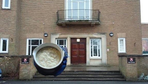 Image may contain: Brick, Door, Balcony