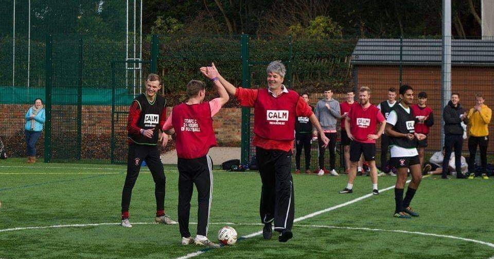 Image may contain: Field, Football, Soccer Ball, Sport, Team Sport, Team, Sports, Soccer, People, Ball, Person, Human