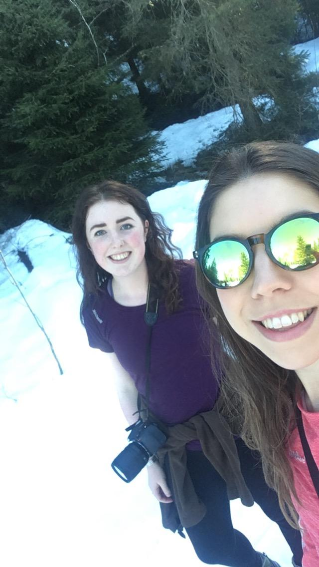 Even when it's sunny there is 10 feet of snow
