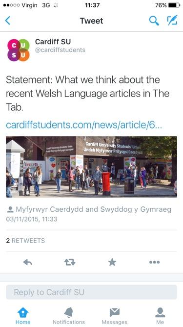 Welsh lang tweet - Tues