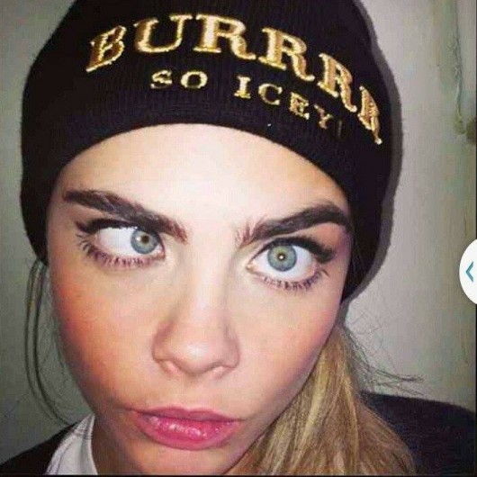 Cara flaunting those famous brows on Instagram