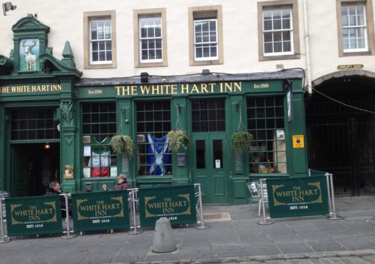 The scene of action , The White Hart Inn.