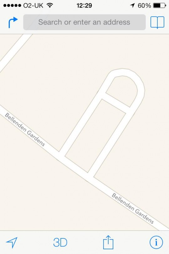 The street is conveniently shaped like a giant penis