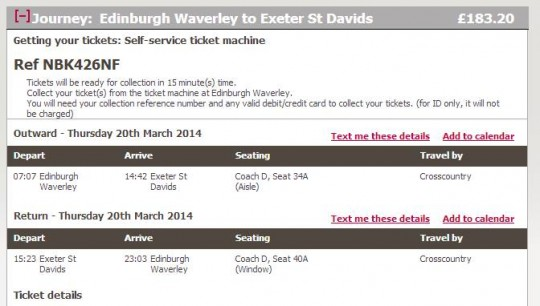 The tickets have been booked
