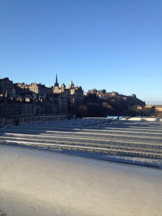 Sunshine on Waverley Bridge