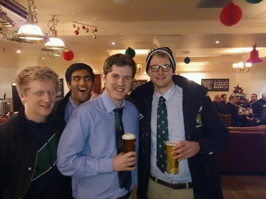 Jack Banister with Edinburgh's Scott Duncan and Tom Fishley. (Photobomb courtesy of Jazim Sohail)