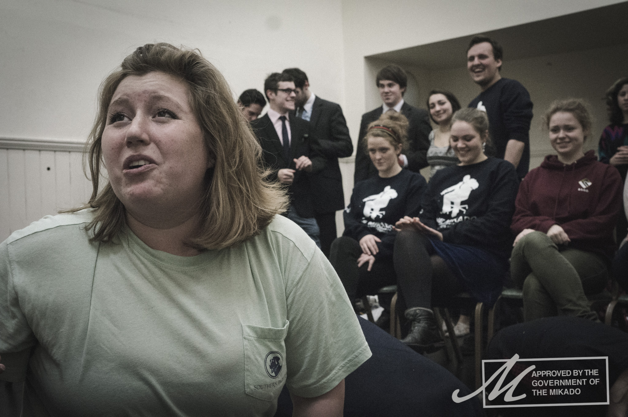 A shot of Katisha (Elizabeth Galbraith) during final rehearsals.