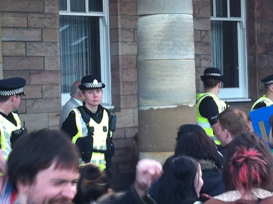 The police were as bored as us
