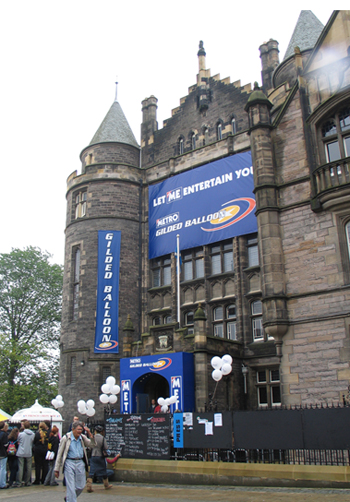 Teviot becomes 'The Gilded Balloon' venue during the Fringe