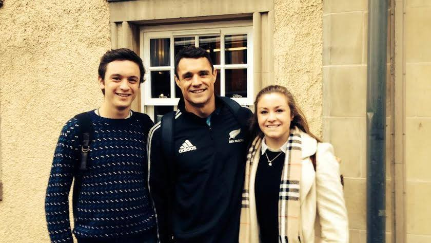 The All Blacks were in Edinburgh for about two weeks.