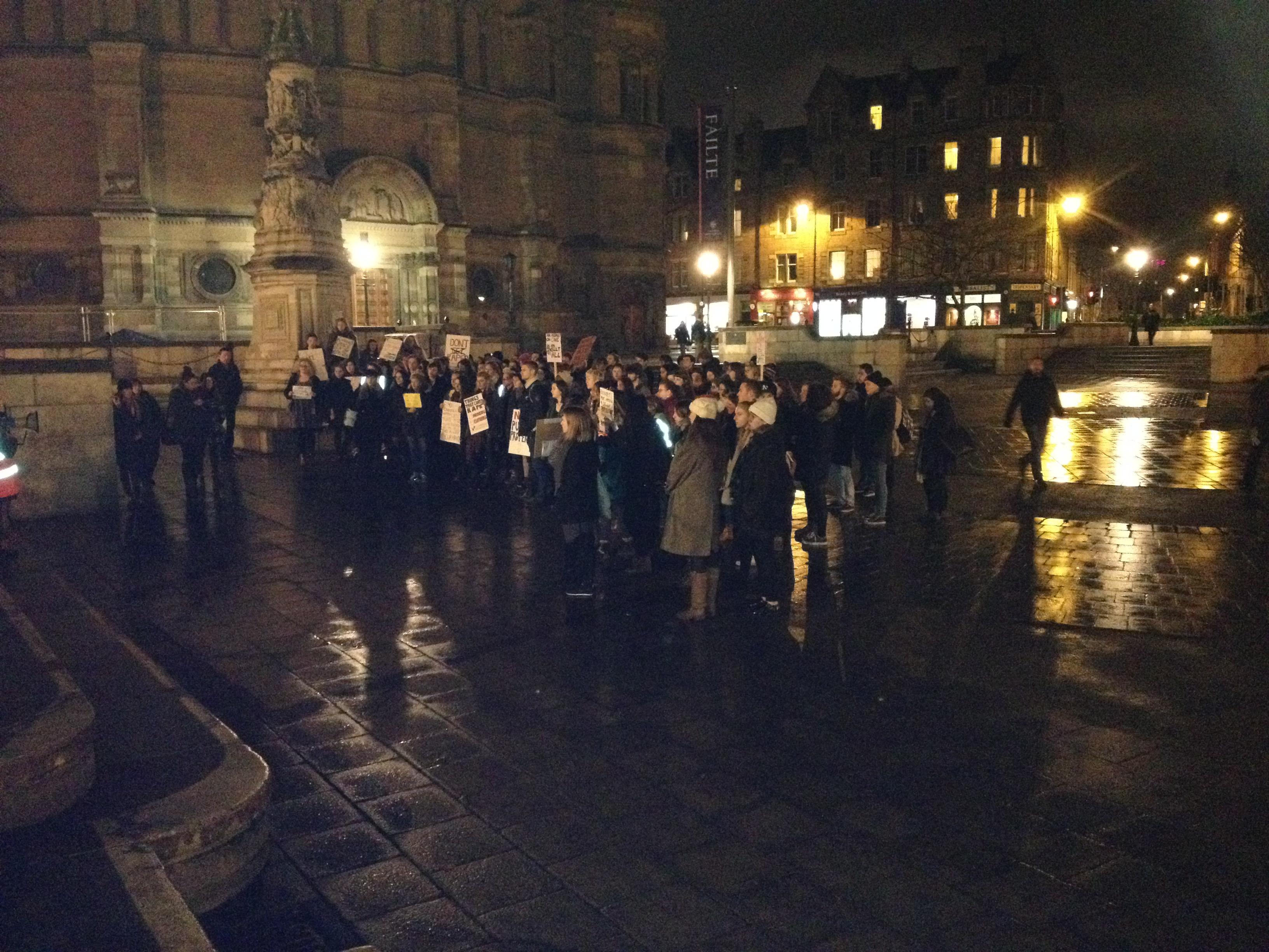 A rainy Edinburgh night