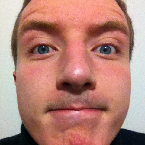 Iain, crowned our Movember'er of the month, who saw it coming