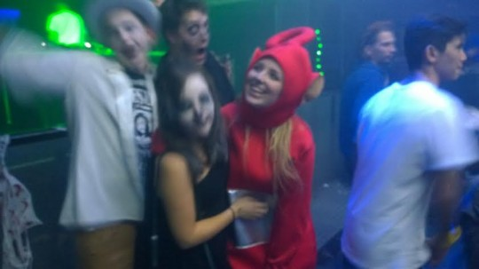 Should have dressed as the vacuum cleaner from Teletubbies
