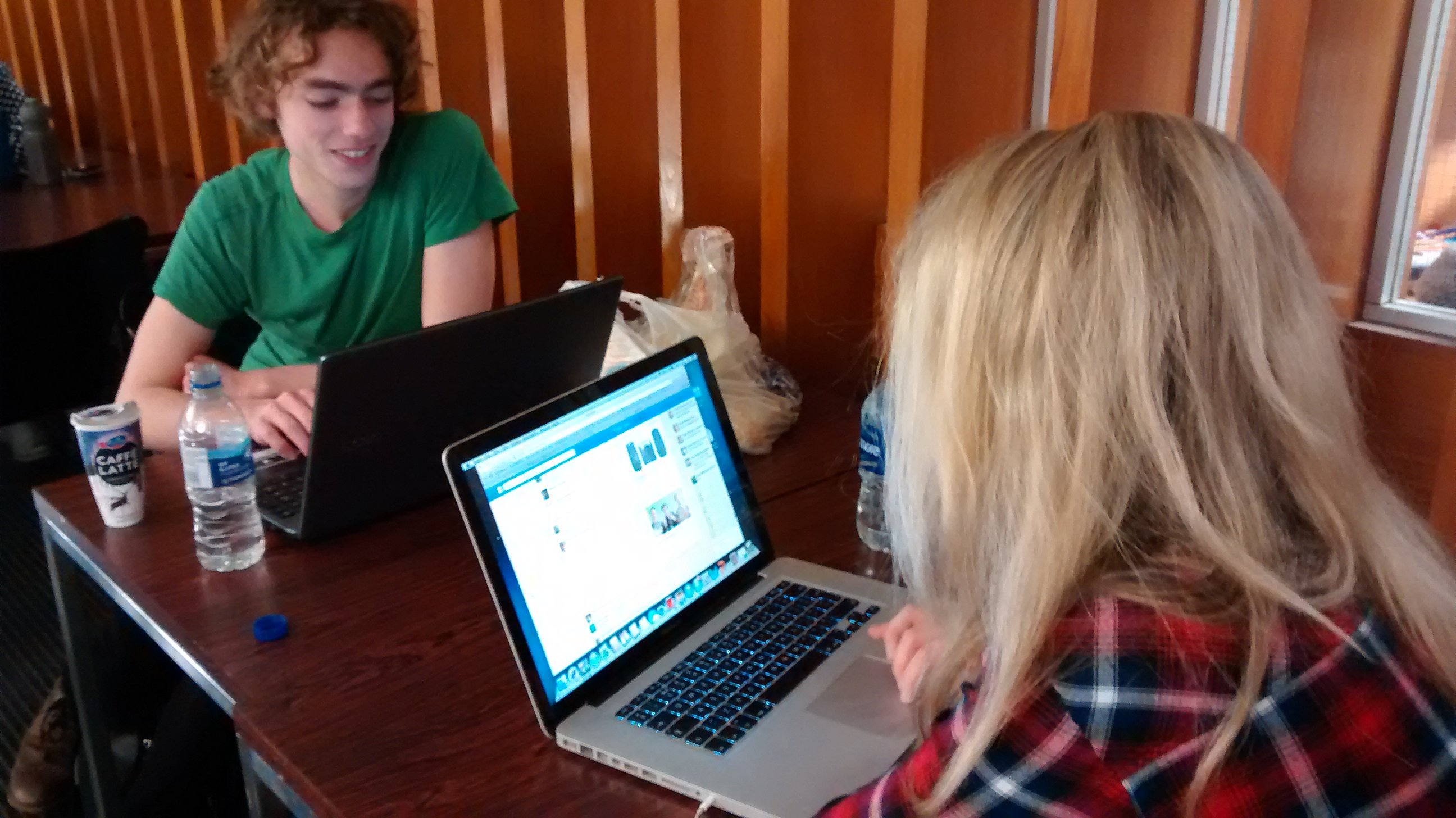 Kate and Nuri post a facebook status about being papped by the tab!
