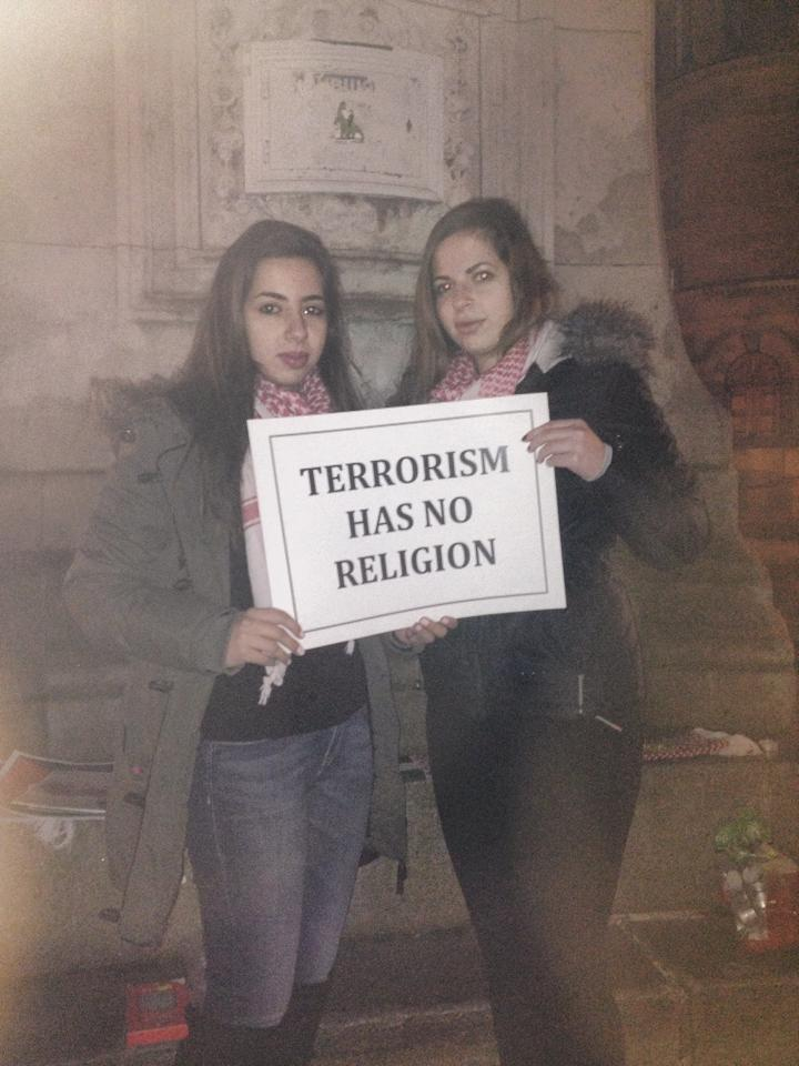 Sisters Nadeen and Taleen taking a stand against terrorism