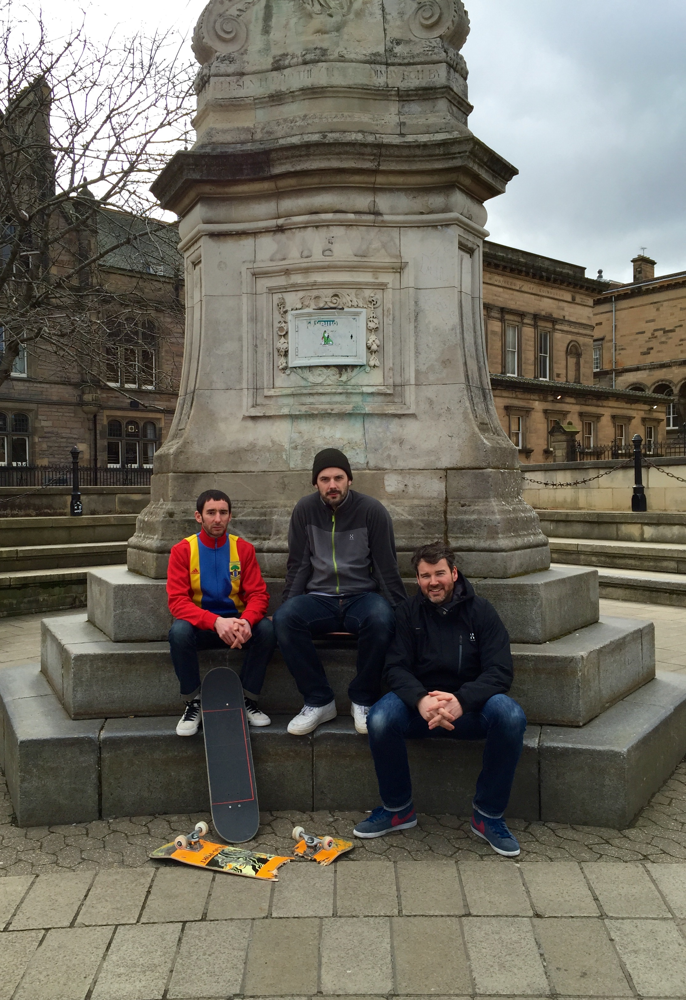 Rennie, Neil and Benjie: Bristo Square veterans