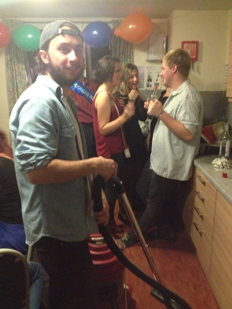 It's normal to hoover at a party, right?