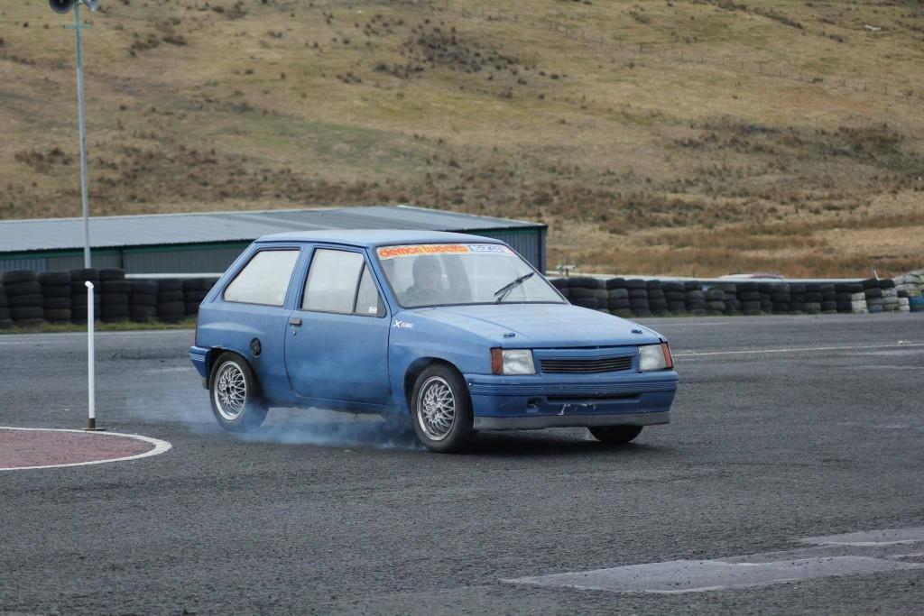 The stolen Vauxhall Nova in action