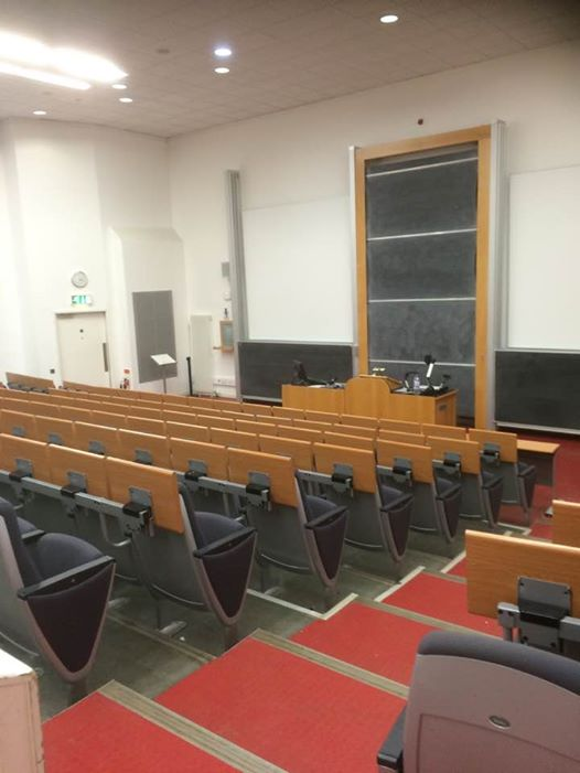 Hopefully lecture theatres don't all end up being this empty all the time