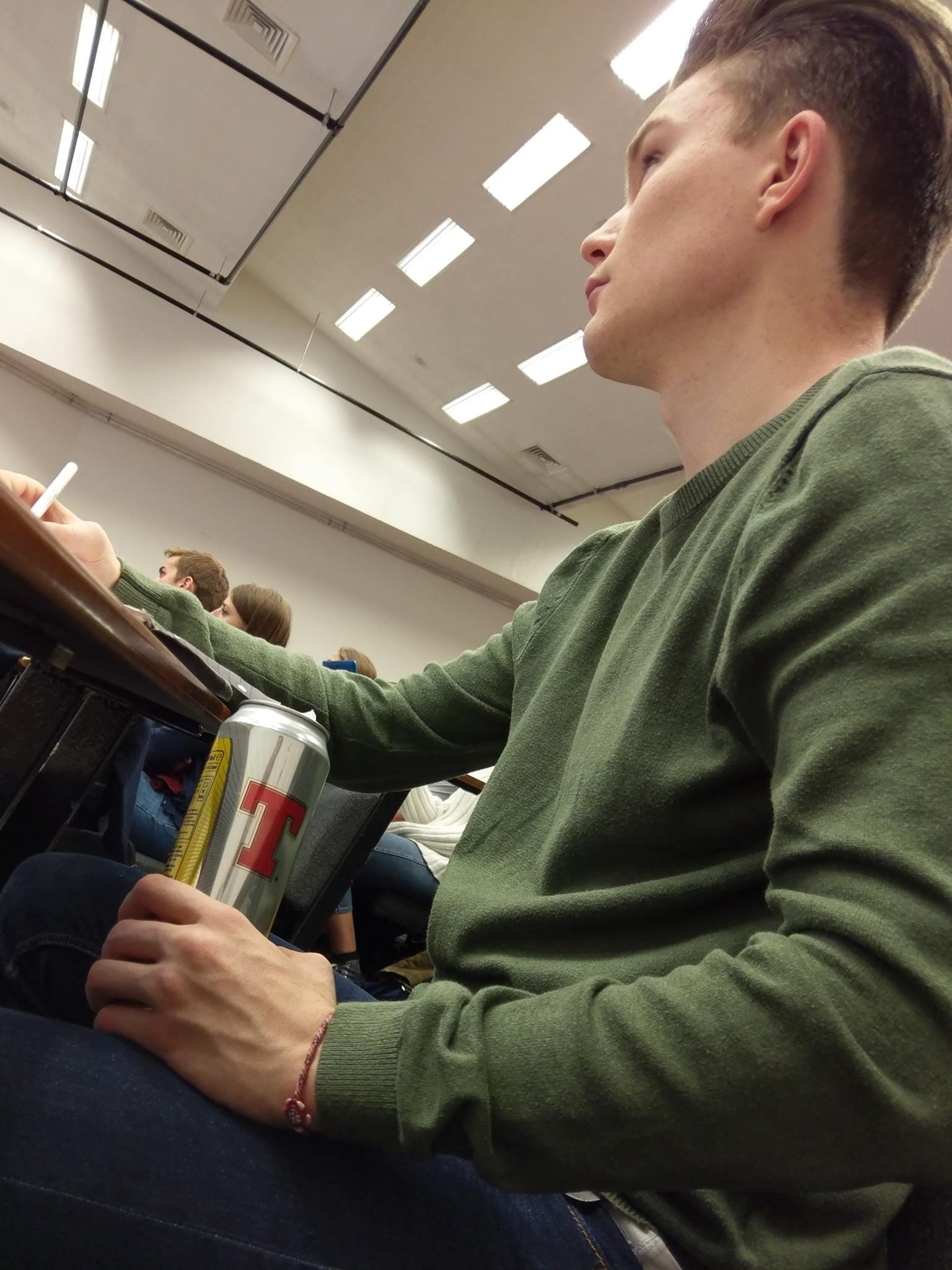 You could even get away with drinking in the lecture