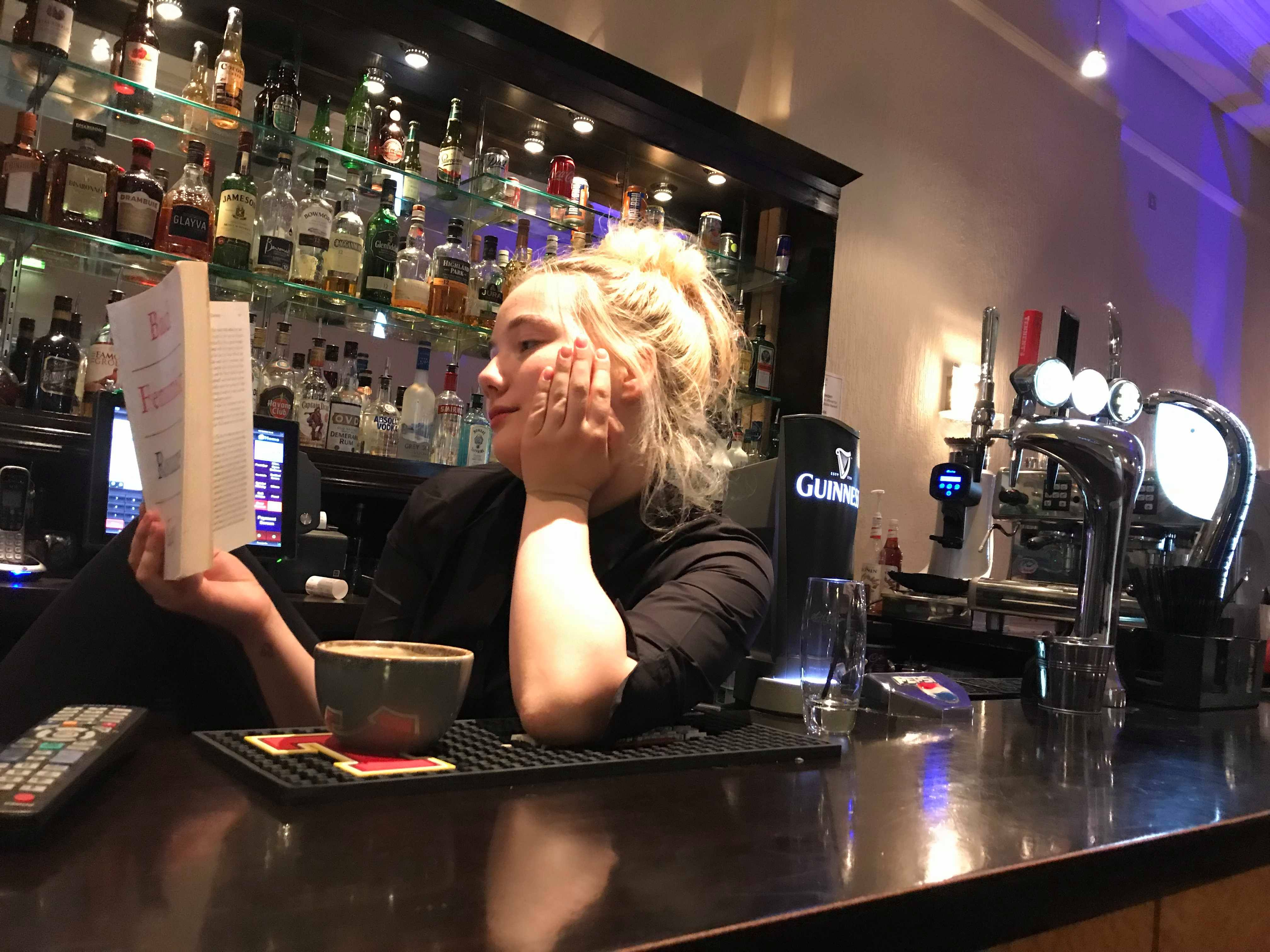 Image may contain: Cup, Pub, Bar Counter