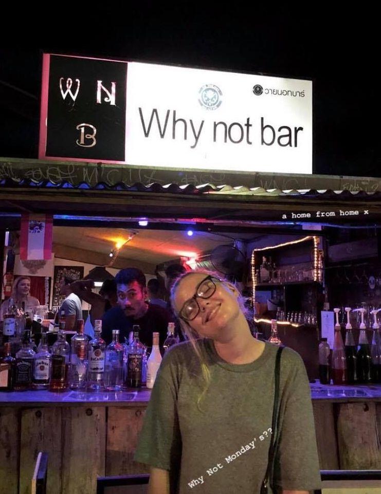Image may contain: Pub, Bar Counter, Billboard, Person, People, Human