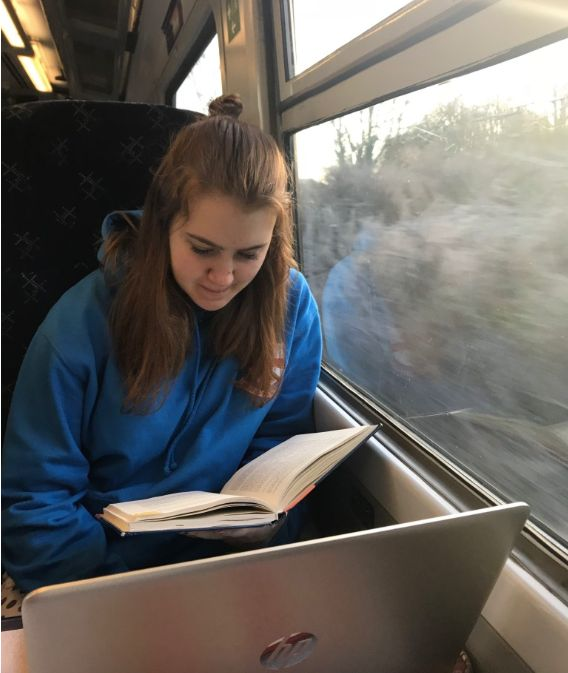 Image may contain: Girl, Female, Reading, Human, Person