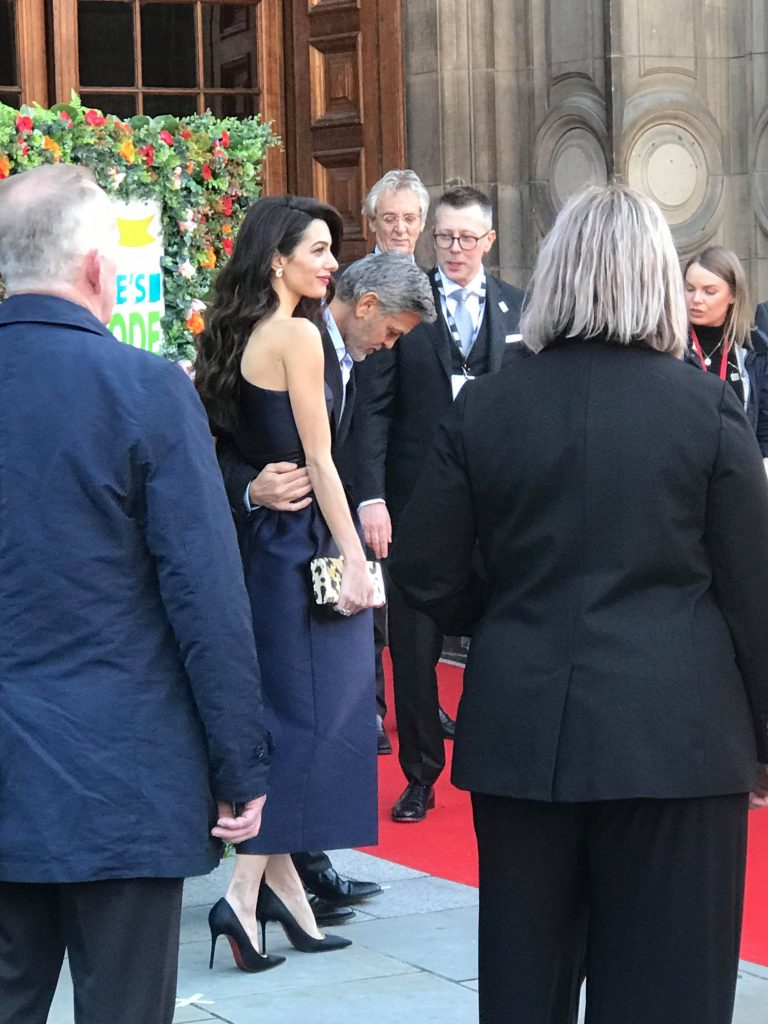 George and Amal Clooney are at McEwan Hall RIGHT NOW!