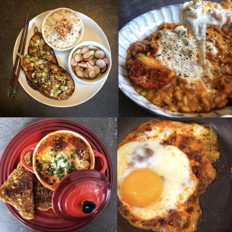 Selection of dishes using flavour bomb ingredients