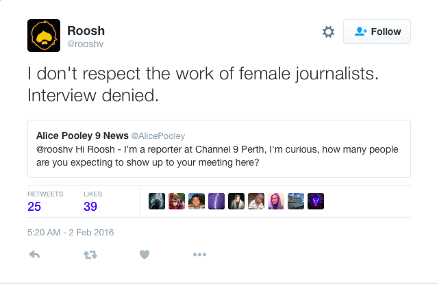 don't respect the work of female journalists