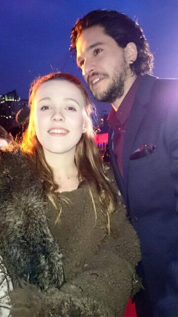Georiga casually posing with the man himself