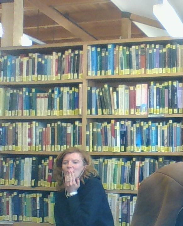 Library hang-out.