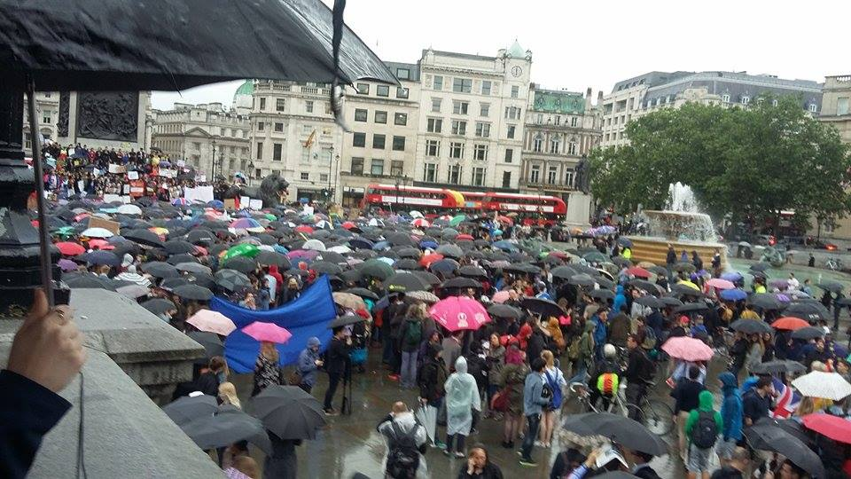 rain protest