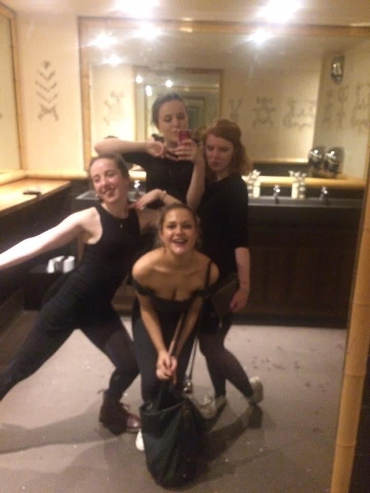 Standard club toilet/auditioning for a girl band photo