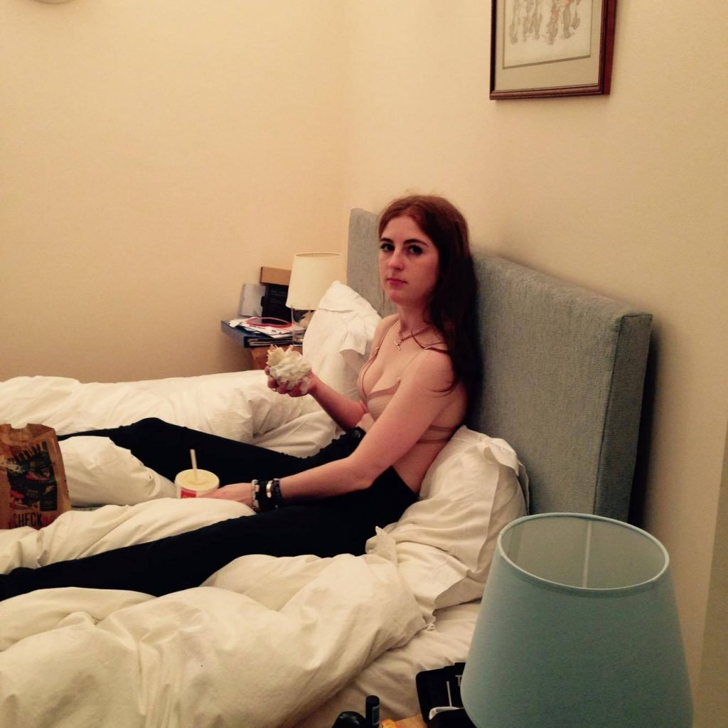 This is the real me, maccies in bed with my shirt off because I was so sweaty