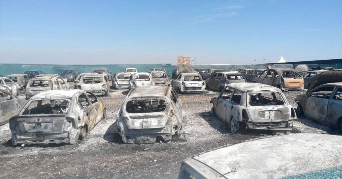 80 Cars Burnt Out At Boomtown Festival Due To A Fire
