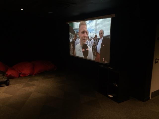 The shared cinema room