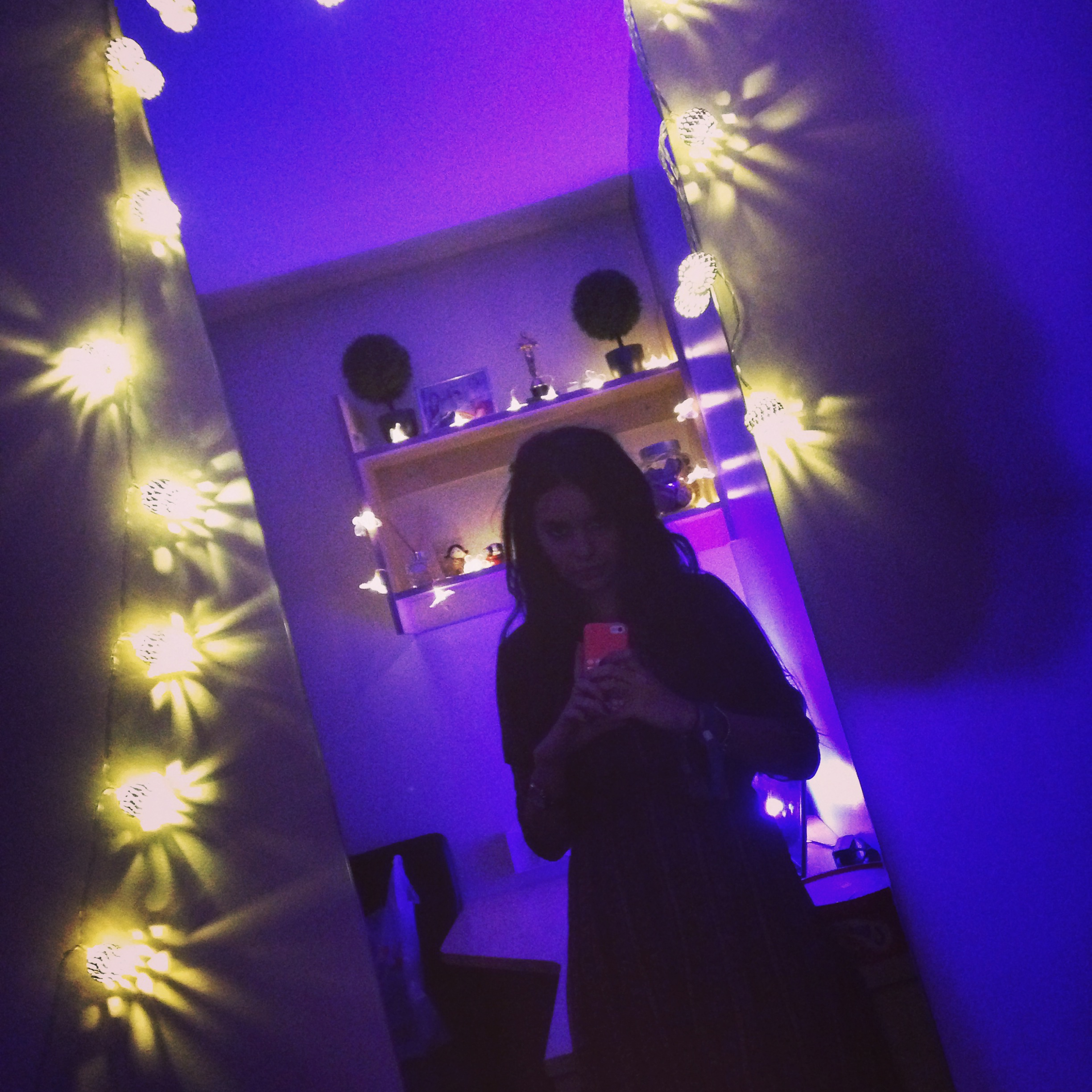 First night in my new flat, some may say I went OTT with the fairy lights