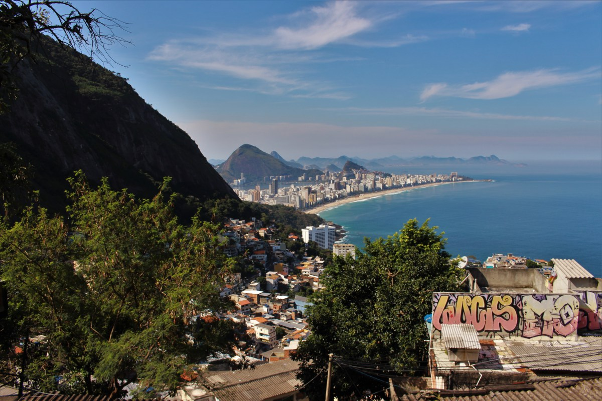 The view of Ipanema beach from Vidigal