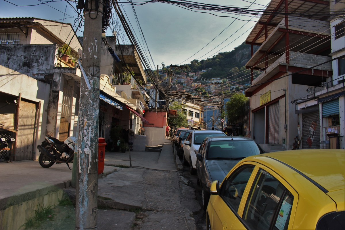 The streets of Vidigal