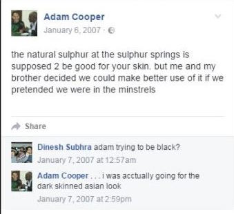 Adam Cooper - black lives matter campaigner grab taken from open facebook page https://www.facebook.com/adam.cooper.3154284/photos?pnref=lhc