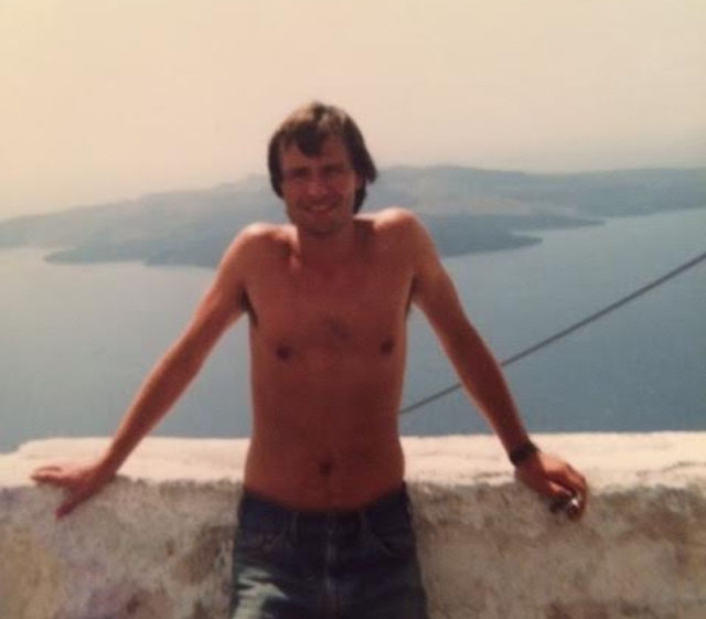 Des, 27, by the Aegean Sea