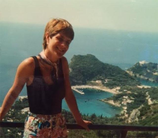 Lindsay aged 27 in Corfu