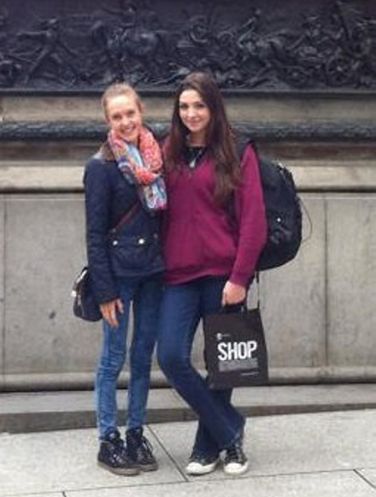"Lorna Beattie(L) with her friend Yasmin Kolsuz. A severely anorexic student from Glasgow was told by her GP that she 'was not thin enough' to get treatment - even though she was eating the equivalent of a few pieces of fruit each day. Sww National story NNANOREXIC; Former St Andrew's University student Lorna Beattie was 18 years old and visibly wasting away on 200 calories a day when she went to her GP for help. But being told she was not thin enough made her feel like a ""failed anorexic"" and she dropped to a dangerous 5st 10lb. She then spent five months and five days on a general psychiatric ward as she struggled to recover from her illness. The Glaswegian said: ""If the doctor had helped back then I wouldn't have been through the pain I have been through, and it would have cost the NHS a lot less as I took up a hospital bed for almost half a year."