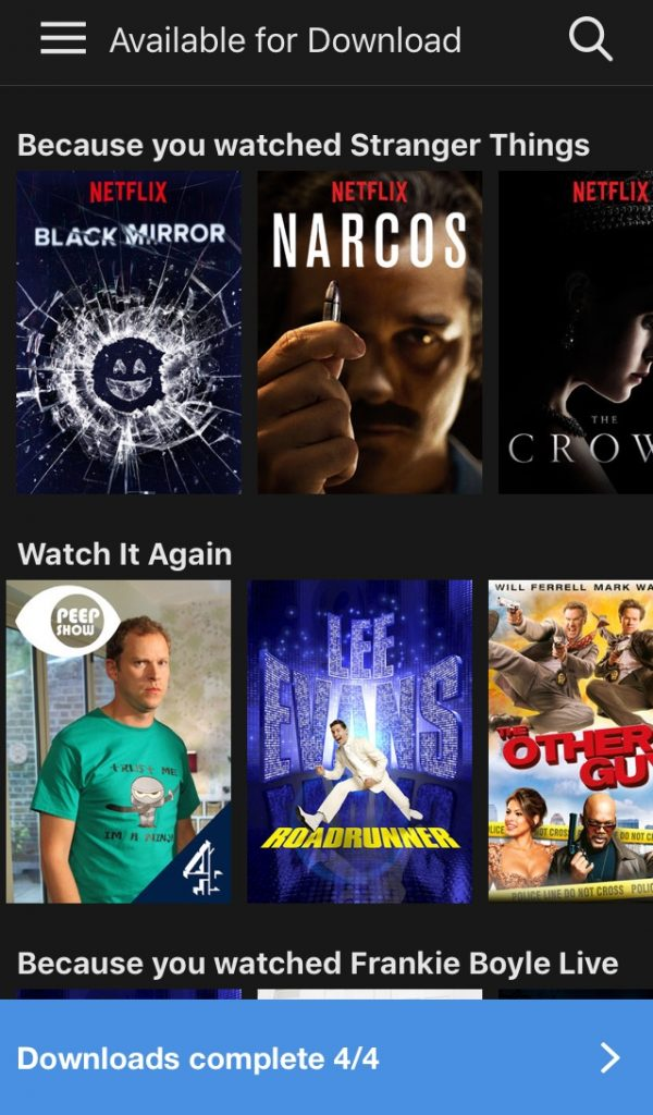 Stop what you're doing: You can now download from Netflix