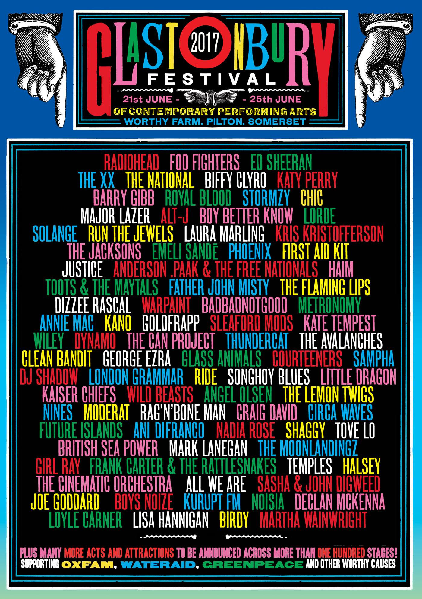 GLASTONBURY 2017 LINE UP