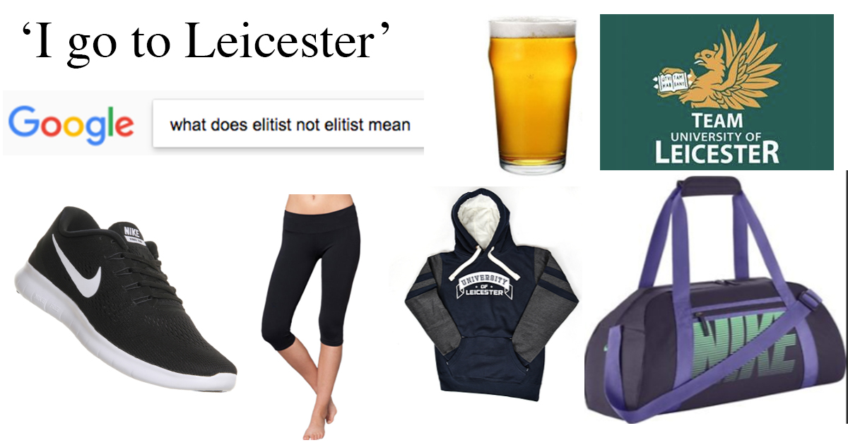98ba2e658390 People from Leicester uni will insist on wearing their  Team University of  Leicester  garms daily